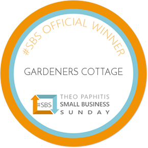 #SBS Theo Pathitis Winners Badge - Gardeners Cottage
