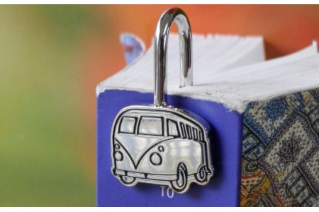 Book mark - Campervan. Keepsake bookmark made of stainless steel