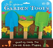 Childrens Garden Tools - Trowel, rake, shovel.