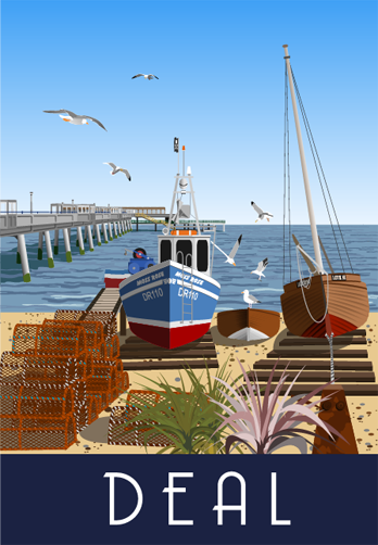 Deal, a seaside town in south east Kent - blank greetings card